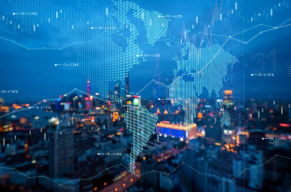 map over city skyline min