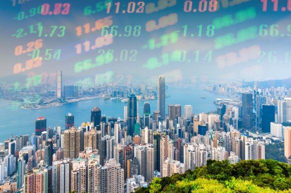 Abstract Hong Kong stock market
