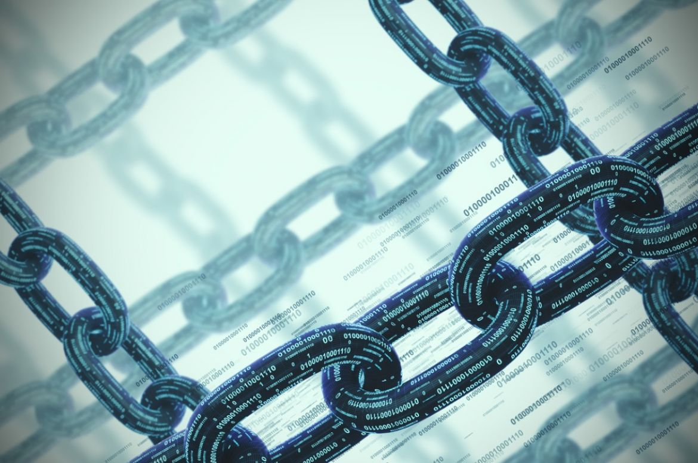Blockchain many chains concept