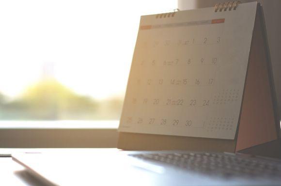 Calendar and laptop