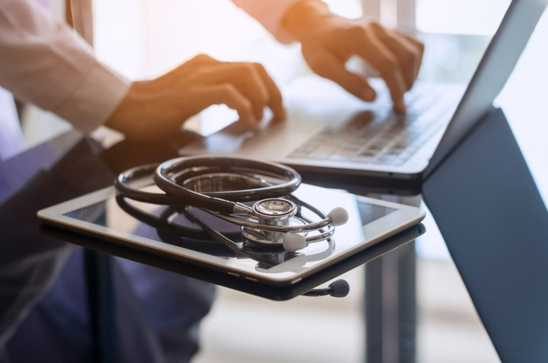 Doctor using computer v2
