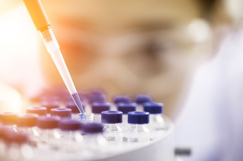 Female chemist at work in laboratory