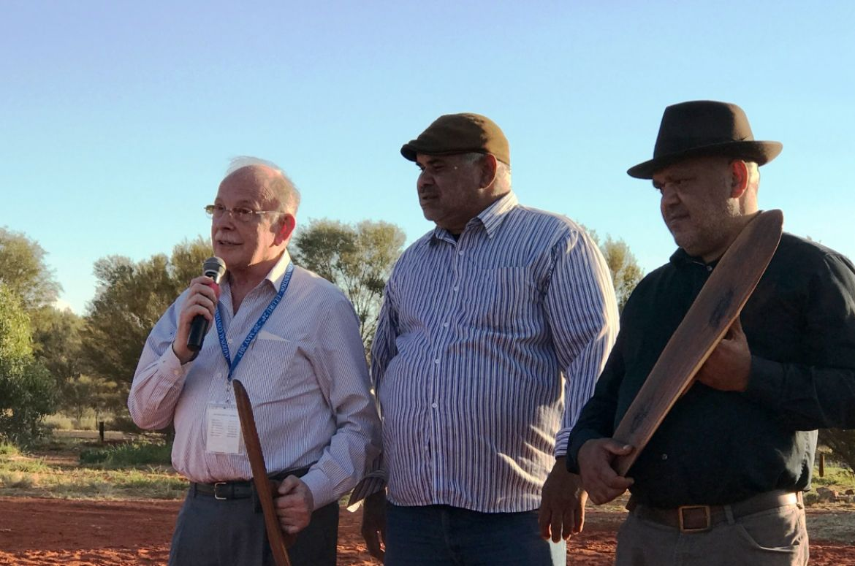 Mark speaking at Uluru