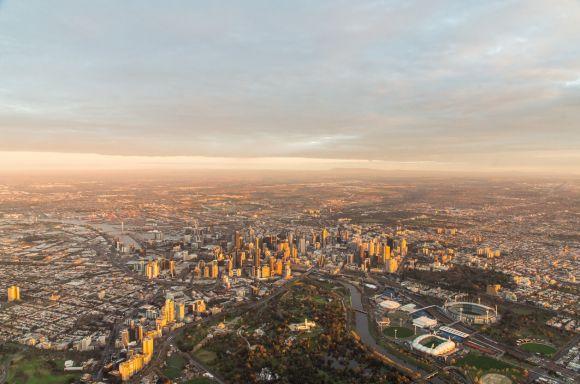Melbourne birds eye view