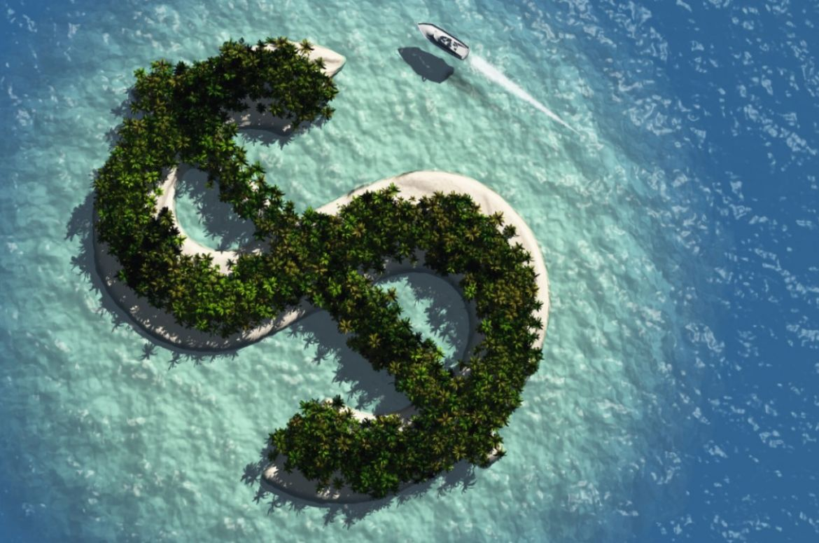Offshore tax dollar sign