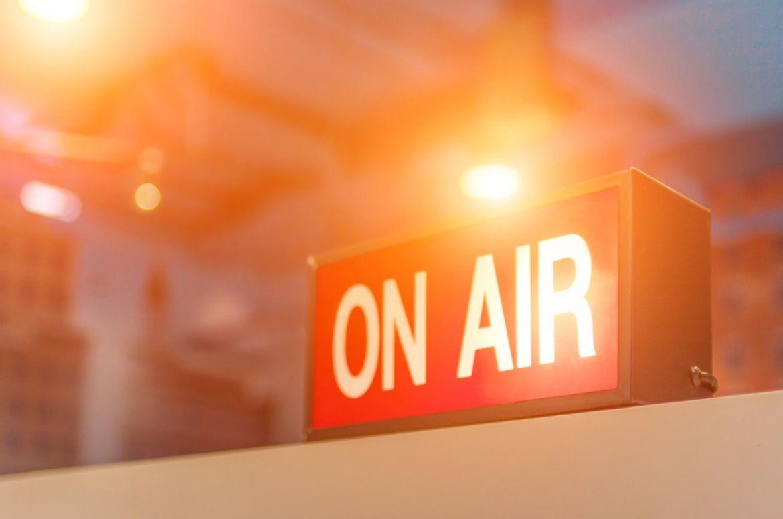 Radio on air sign