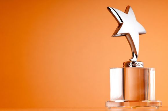 Star award orange background