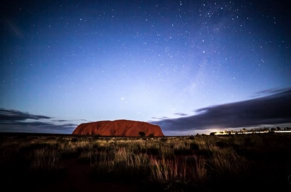 Uluru at night