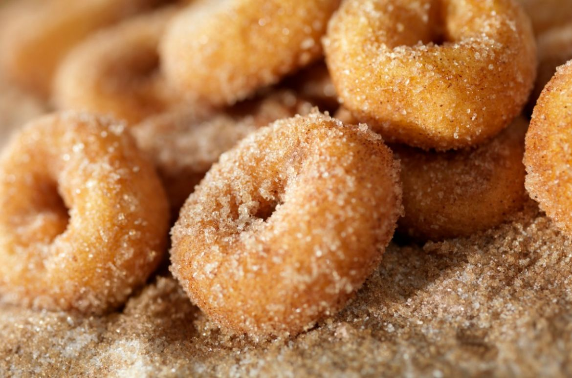 cinnamon and sugar mini donuts picture id157613456 1