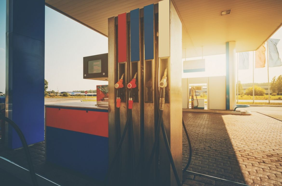 gas station on summer day picture id647559570