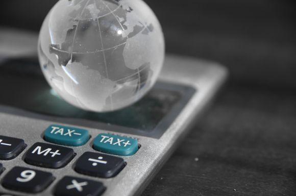 globe on calculator